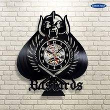 Bastards Vinyl Record Clock Wall Art Home Decor la crosse dial vision