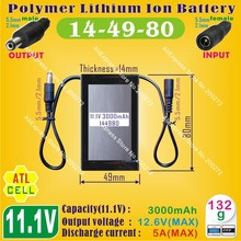 [144980] 11.1V / 12V,3000mAh,5A;PLIB;Rechargeable Polymer lithium ion / Li-ion battery for POS device,Laptops,POWER BANK,LED