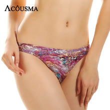 Buy ACOUSMA Women G-String T Back Thongs Panty Leopard Print Sexy Hot Panties Seamless Female Soft Underwear Lingerie High Quality