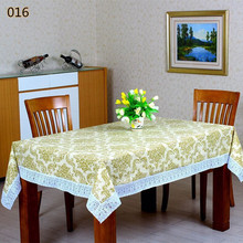 Pastoral PVC Washable Rectangular Tablecloth Waterproof Oilproof Table Cover With Lace Side  Anti-hot Tea Decor Cabinet Fabric