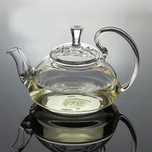 Glass tea pot 600ml,flowering high borosilicate glass teapot with a stainless steel ball inside for filtering,hot sale teapots