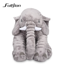 Fulljion Elephant Stuffed Plush Animals Toys For Children Dolls & Stuffed Toys Baby Kawaii Sleeping Back Cushion Pillow Gifts(China)