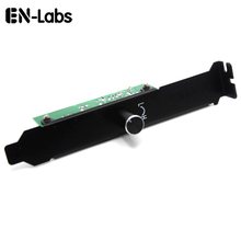 En-Labs 3 Channels PC Cooler Cooling Fan Speed Controller for CPU Case HDD VGA Fan w/ PCI Bracket,Power by 12V Molex IDE 4pin(China)