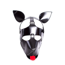 Buy New Leather Dog Bdsm Mask Bondage Hood Cosplay Mask Slave Head Harness Adult Games Couples Fetish Sex Products Flirting Toys