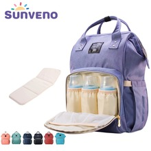 Sunveno Fashion Maternity Mummy Nappy Bag Brand Large Capacity Baby Bag Travel Backpack Design Nursing Diaper Bag  Baby Care