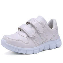 Hot Fashion Kids Shoes Tenis Infantil Breathable Children White School Sneakers For Boys Girls Size 27-37(China)