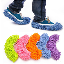1pc Portable Dust Mop Slipper Lazy House Floor Cleaner Polishing Cleaning Easy Foot Sock Shoe Cover Mops New 5Colors