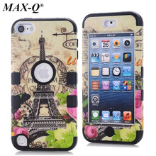 MAX-Q Cell Phone Case Protective Back silicon Cover Durable Shockproof Hard Stand For Apple iPod Touch 5 5G 5th Generation Gen