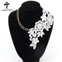 2017 Fashion Gothic Handmade Choker Necklace Vintage Elegant Lace Flower Pendant Wedding Jewelry For Women Collar Statement Gift(China)