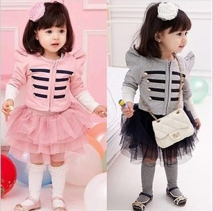 Free shipping Spring new childrens clothing British style girls skirt suit boy jacket + Shaqun<br><br>Aliexpress