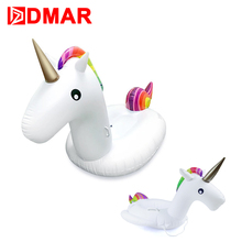 DMAR Inflatable Unicorn Giant Pool Float Toys 3 size Swimming Ring Circle Inflatable Mattress Adults Kids Beach Water Party(China)