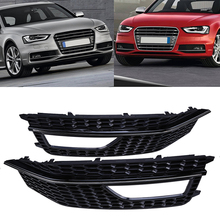 High Quality Car Front Bumper Lower Grille Fog Light Grills Cover For Audi A4 B9 (Sport Style) Car-styling 1pair