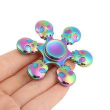 Buy New Arrival Style Lovely Six bead Hand spinners Metal Fidget Spinner Autism ADHD Kids Spiner Tri Finger Toy Fidget stress for $6.34 in AliExpress store