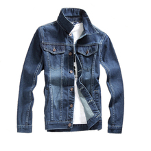 2017 Fashion Men Denim Bomber Jackets Coat Casual Jaqueta Masculina Mens Jean Jacket Dark Bue Solid Male Outwear Brand Clothing