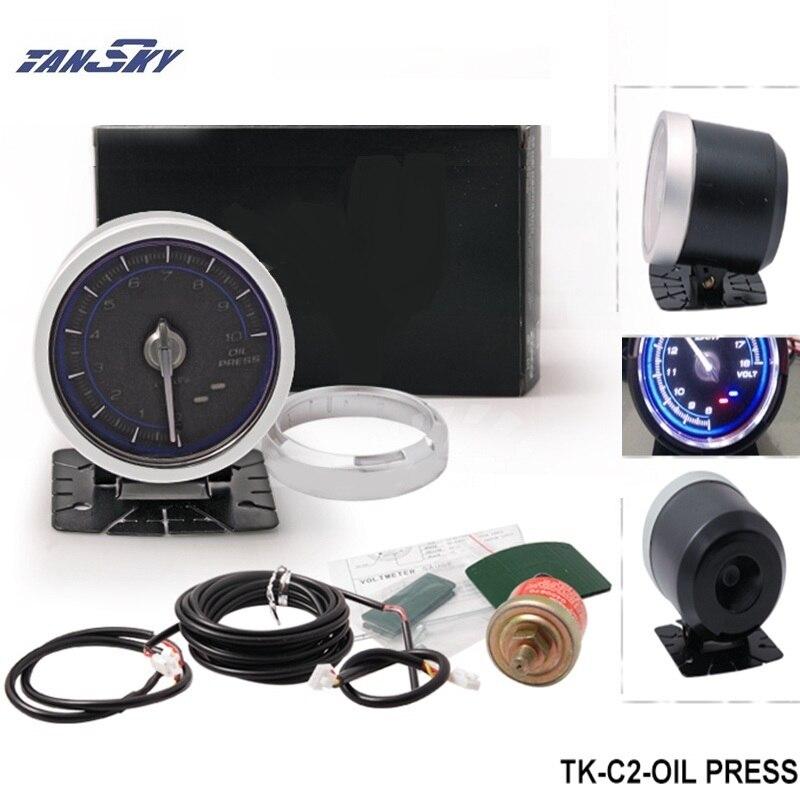 TANSKY - DF Link Meter ADVANCE C2 Oil Pressure Gauge Blue For Jeep Wrangler 87-06 TK-C2-OIL PRESS