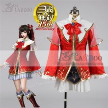 Game Movie Dynasty Warriors Da Qiao Cosplay Anime Costume Red White Fighting Full Set Free Shipping