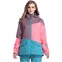 Gsou Snow Women Ski Jacket Ladies Snowboard Jacket Outdoor Windproof Water-proof and free breathing thermal hiking clothing