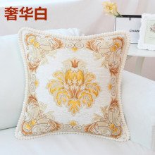 European style hot pillow bedside pillow with red mahogany chair pillow high-grade embroidery cushion