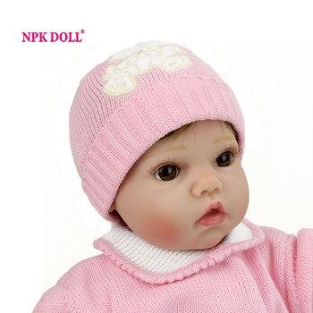 """Npkdoll 50 cm 20 """"de silicona suave muñecas reborn baby bebe renacida hecho a mano juguete para niñas bebé recién nacido regalo de cumpleaños para niños"""