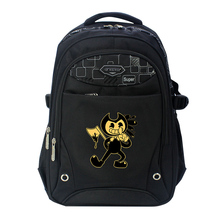 Bendy black Oxfords Anime Backpack Mochila Femina School Bags Laptop Backpacks Teenage Girls boys