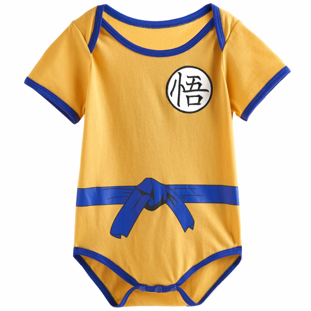 Baby-Boys-Dragon-Ball-Z-Goku-Costume-Bodysuit-Infant-Onesie