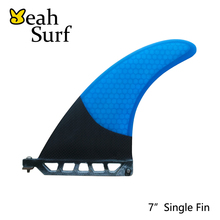 SUP Single Fins 7 inch Surfboard Center Fin Carbon Fibre Paddle Surf Fin stand up paddle Fin(China)