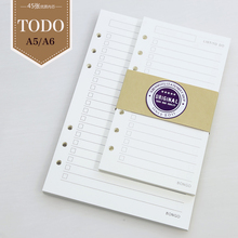 list to do list filler papers for Loose Leaf Notebook A5 A6 Core Scheme Of The To Do Cross Inside Page Notebook Planner Filofax(China)