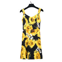 Vagary Plus Size Floral Print A Line Party Dress Black Sleeveless Women Vintage Summer Dresses Back Zip Up Draped Tank Dress