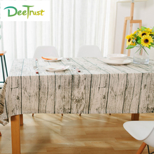 Moden Simple Linen & Cotton Simulation Wood Striped Table Cloth Home/Outdoor/Party/wedding Decoration Toalha De Mesa TablesCover