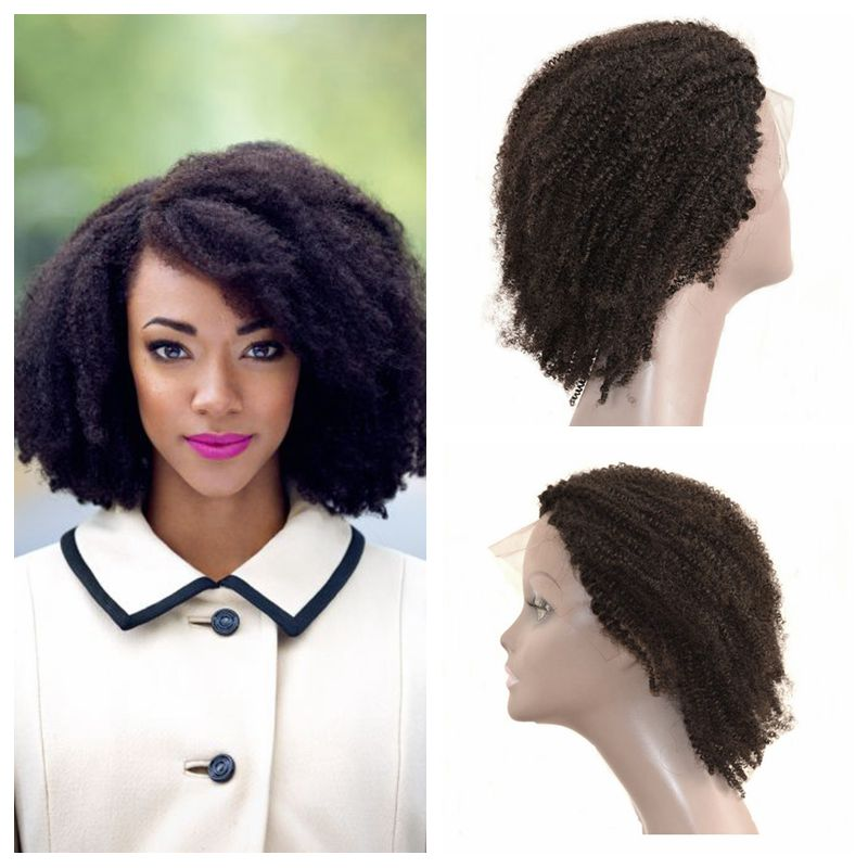Peruvian Kinky Curly Human Hair Lace Front Wigs For Black Women 100% Human Hair U Part Wigs 130% Density<br><br>Aliexpress