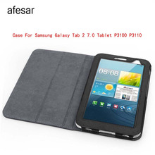 afesar Real Sale Striped  Folio Leather Case Cover Stand for Samsung Galaxy Tab 2 7.0 Smart Wifi 3g Gt-p3100 Gt-p3110 Book