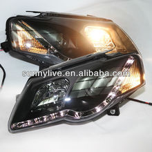 For VW Magotan Passat B6 LED Head Lamp Angel Eyes 2004- 2010 Year