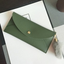 HOT 2017 new arrival fashion women wallets brand long wallet solid PU solid color high quality