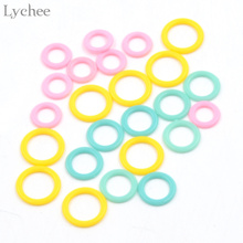 Lychee Plastic Ring Markers for Knitting Crochet DIY Handmade Sewing Craft Tool(China)