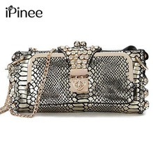 iPinee Hot Selling 2017 Genuine Leather Women Bags Crossbody Ladies' Clutch Bag Woman Messenger Bag(China)