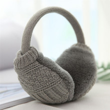 New Style Winter Earmuffs For Women Warm Unisex Ear Muffs Winter Ear Cover Knitted Plush Winter Ear Warmers(China)