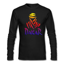 Men 20173D T Shirts Homme Anime crossfit The Paris Dakar Rally LOGO T-shirt Crewneck Long Sleeve Funny real madrids bape trasher(China)