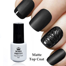 BORN PRETTY Matte Top Coat Gel Polish 5ml Soak Off  No Wipe Manicure Nail Art UV Gel Polish