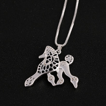 Running Lovely Dog Memorial Gift Pomeranian Animal Hollow Pendant Necklaces For Women Fashion Statement Jewelry Pet Lovers Gift(China)