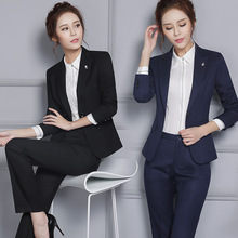 New fall career skirt suits Ms. long-sleeved body suit being renovated white-collar bank overalls interviewPants + tops(China)