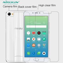 Whole Unit Plastic PET Material Screen Protector For Meizu M3X + Back Protective Film(China)