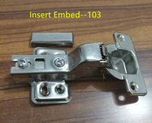 103 Insert Embed Stainless steel Hinges Hydraulic  Damper Buffer Cabinet  Door Hinges Soft Close Furniture hinges