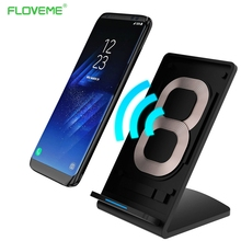 FLOVEME CE FCC ROHS Wireless Fast Charger For Samsung Galaxy S8 S7 S6 Fast Chargers Desktop Dock Wireless Charging