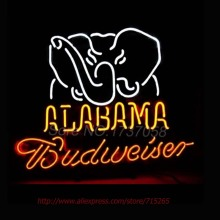 Neon Sign Budweiser Neon Alabam Elephant NC College Football Neon Bulbs Handcrafted Display College Neon Tube Personalized 17x14