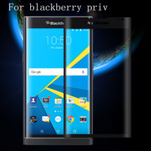 Tempered Glass Screen Protector For Blackberry Priv Latest New Film 3D Full Covered Black Gold Clear Surface Cover Case Guard(China)