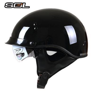 Harley Motorcycle Helmet SOL Vintage Helmet DOT approved DD ring buckle Classic Design helmet<br><br>Aliexpress