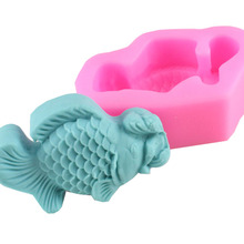 Goldfish Cake Silicone Mold Sugarcraft Silicone Mold fish Cake Decorating Sugar Art Tool Fondant Cake Mold F0735