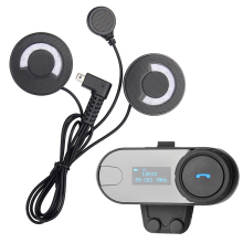 FreedConn!1 pc BT Bluetooth Interphone Motorcycle Helmet Wireless Headset Intercom with LCD for 3 Rider+FM Radio+Soft Headphone(China)