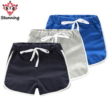3-7T Baby Boys Shorts 2017 Summer Striped Boys Beach Shorts Casual Kids Clothes Cotton Boys Sports Shorts Children Clothing Pan
