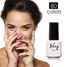 80 Colors Choose Best One Bling Gel Nail Polish Gorgeous Colors UV Gel Nail Polish Long-lastting up to 30 Days